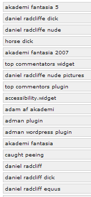 WebGrrrl.net hit results by HitTail (2007/03/05)