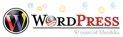 WordPress 50 Years of Merdeka logo, courtesy of Enveluv.com (http://www.enveluv.com/blog/2007/08/28/happy-merdeka/)